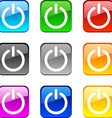 Power buttons vector image vector image