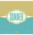 Retro Summer Vintage Background vector image