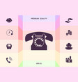 retro telephone symbol graphic elements for your vector image