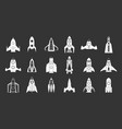 rocket icon set grey vector image vector image