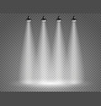 scene with spotlights on transparent background vector image