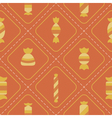 Seamless background with candy vector image vector image