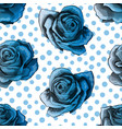 seamless pattern background with blue gradient vector image