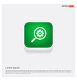 search gear icon green web button vector image