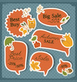 seasonal sale red stickers set vector image