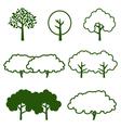 set of tree icon vector image