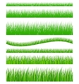 set seamless grass vector image