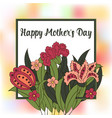 spring postcard cover spring happy mosers day vector image