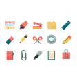 stationary items business office tools paper vector image
