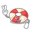 two finger swim tube character cartoon vector image