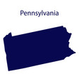 united states pennsylvania dark blue silhouette vector image