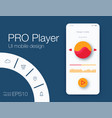 ux audio player templates stock eps10 vector image vector image