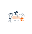 Vacation by the sea vector image