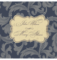 wedding card design vintage vector image vector image