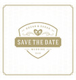 wedding save the date invitation card design vector image vector image