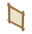 wooden board icon isometric style vector image vector image