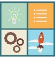 Flat design concept of startup vector image