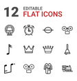12 classic icons vector image vector image