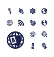 13 globe icons vector image vector image