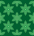 abstract seamless floral pattern geometric vector image vector image