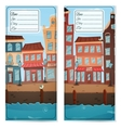 Address card with city vector image vector image