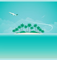 airplane travel or tropical voyage banner with vector image vector image