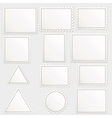 big set of blank postage stamps different vector image