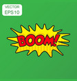 boom comic sound effects icon business concept vector image vector image