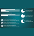 business infographic graphic and diagram vector image vector image