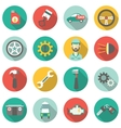 Car service flat icons vector image vector image