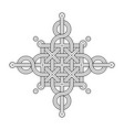 celtic knot - single chain - wands vector image vector image