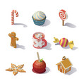 christmas sweets and pastries vector image vector image