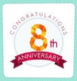 colorful polygonal anniversary logo 3 008 vector image vector image
