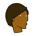 comic cartoon surprised face vector image vector image