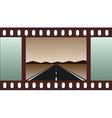 empty road - film strip vector image vector image