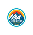 expedition mountains rescue adventure outdoors vector image vector image