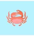 Funny Cartoon Crab vector image vector image