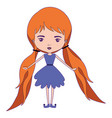 girly fairy without wings and redhead with vector image vector image