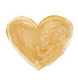 Gold acrylic heart Hand drawn vector image vector image