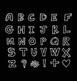 hand drawn doodle font design vector image vector image