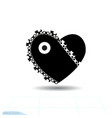 heart black icon love symbol chainsaw in vector image