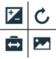 image icons set collection of mode reload vector image vector image
