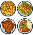 Indian food vector image vector image