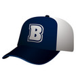 isolated baseball cap vector image vector image