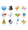 Isometric-style icons for global finance vector | Price: 1 Credit (USD $1)