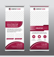 multipurpose business roll-up banner vector image vector image