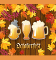 oktoberfest traditional german autumn festival of vector image