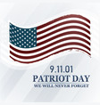 patriot day background we will never forget 9 11 vector image vector image