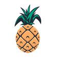 pineapple design element for logo emblem sign vector image