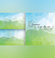 Poligon Background Summer vector image
